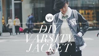 How to Make a Varsity Jacket (Letterman Jacket) | WITHWENDY