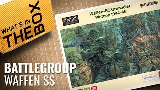 Unboxing: 20mm Waffen-SS Grenadier Range   Battlegroup