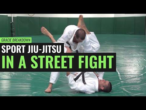 Sport Jiu-Jitsu in a Street Fight! (Gracie Breakdown)