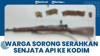 Seorang Warga Sipil Serahkan 1 Senjata Api dan 49 Amunisi ke Kodim 1807/Sorong Selatan