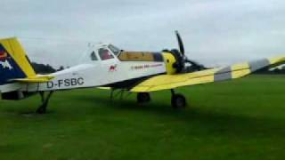 preview picture of video 'PZL M18A Dromader Standlauf'