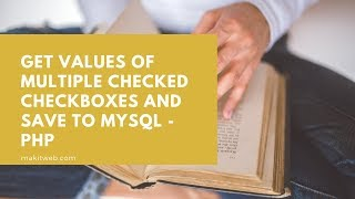Get values of multiple checked checkboxes and save to MySQL - PHP