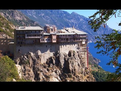 Афон.Спаси Боже люди твоя...Песнопения афонских монахов. Holy mountain Athos.