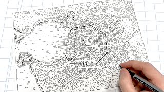How To Draw Your Own D&D City Map!!!