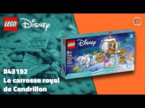 Vidéo LEGO Disney 43192 : Le carrosse royal de Cendrillon