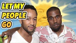 Blacks Aren't Allowed to Be Free: Kanye Loves Trump. John Legend Is a Liar.
