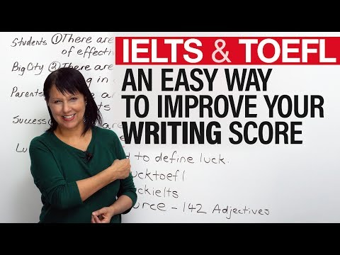 Quick & Easy Writing Tip for IELTS, TOEFL, TOEIC, PTE