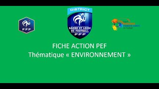 P.E.F ENVIRONNEMENT saison 2020-2021