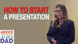 How do I start a presentation?