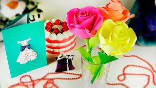 РОЗА ИЗ БУМАГИ, КАК НАСТОЯЩАЯ   СВОИМИ РУКАМИ   Цветы из бумаги