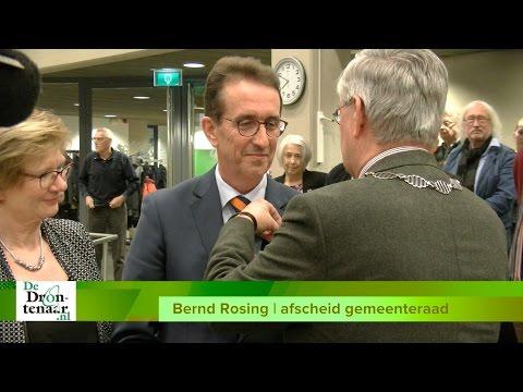 VIDEO | Lintje voor Bernd Rosing (VVD) bij afscheid gemeenteraad