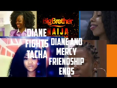 #BBNaija MERCY AND DIANE FRIENDSHIP ENDS. Diane and Tacha get physical.