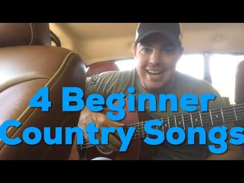 4 Beginner Guitar Country Songs Easy to Play | Country Song Teacher
