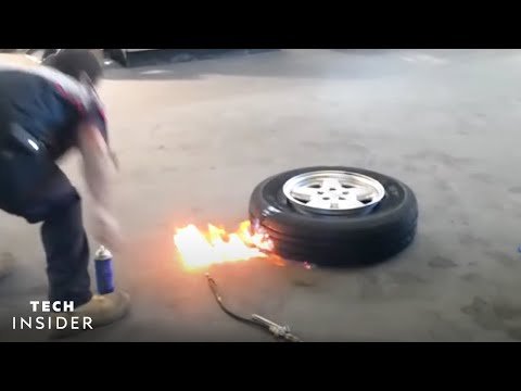 How Mounting Tires with Fire Works