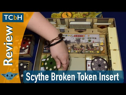 The Cardboard Herald Reviews - The Broken Token's Scythe Organizer / Insert