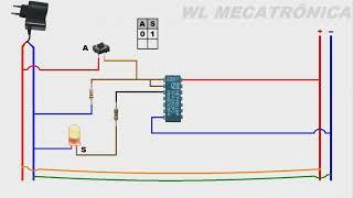 Porta NAND como inversora - Ci 4011 (CMOS)