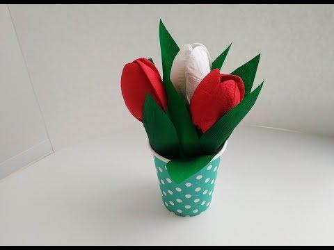 Как сделать цветы из бумаги и салфеток. Цветок на ДР. Букет своими руками. Поделки. Декор.