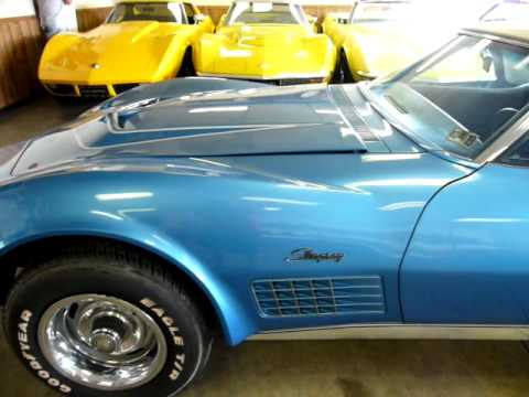 1971 Mulsanne Blue Corvette LT1 Convertible All Original Video