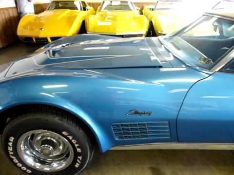 1971 Mulsanne Blue Corvette LT1 Convertible All Original Video