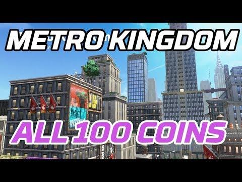 Super Mario Odyssey] All Metro Kingdom Coins (100 purple