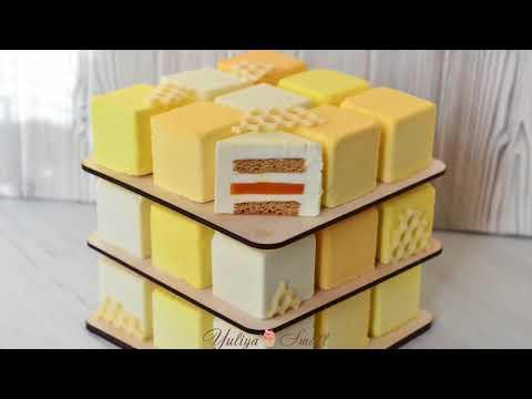 Как сделать медовик в форме кубик-рубик
