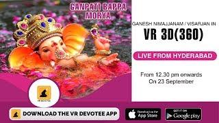 worlds 1st coverage of Ganesha Shobha yatra (Nimajjanam) in VR 3D(360)