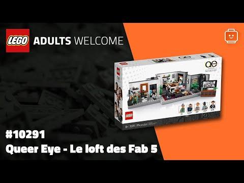 Vidéo LEGO Adults Welcome 10291 : Queer Eye – Le loft des Fab 5