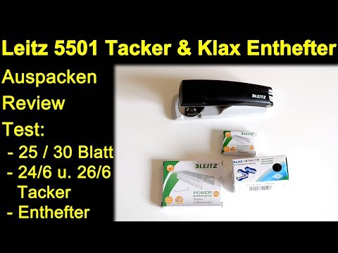 Leitz NeXXt 5501 0095 Tacker Stapler und Klax Enthefter - Auspacken Review Test 25 / 30 Blatt Papier