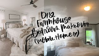 Farmhouse Bedroom Makeover (Mobile Home Renovation)