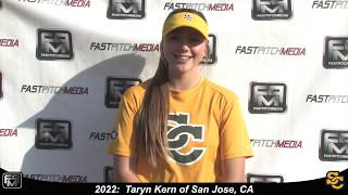 2022 Taryn Kern Athletic Middle Infield and Outfield Softball Skills Video - Suncats Jimenez