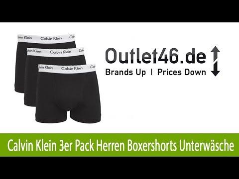 GÜNSTIGE Calvin Klein 3er Pack Herren Boxershorts Unterwäsche online | Outlet46.de