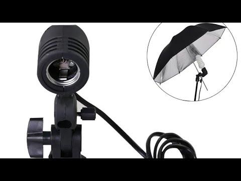Держатель студийной фото лампы E27 / Studio Photo Lamp Holder E27