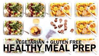 MEAL PREP | Easy Vegetarian + Gluten Free Recipes