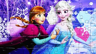 FROZEN Disney Puzzle Games Toys Learning Activities Rompecabezas Jigsaw Game Kids Puzzles
