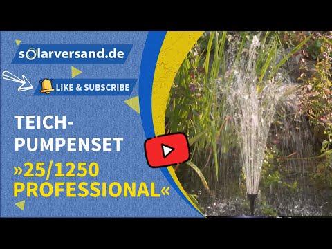 esotec Solar Teichpumpenset 25/1250 - dekoratives Wasserspiel für Ihren Gartenteich ohne Stromkosten