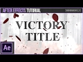 After Effects Tutorial: Victory Leaf Particle Title Animation