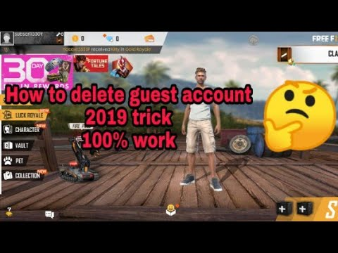 Freefire - How to delete your guest ID/account and for making new on