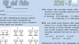 8 SİNİF FİZİKA KSQ 5