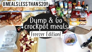 DUMP & GO CROCK POT MEALS | DUMP & GO FREEZER MEALS