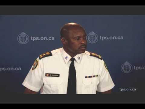 @TorontoPolice Chief Mark Saunders News Conference Re: Arrests in Blake St. Shooting of 10yo Boy