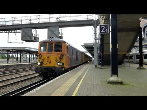 73963 & 73965 at Ashford International with a Network Rail t…