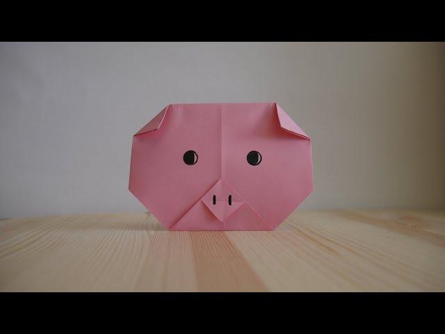 Оригами. Как сделать свинью из бумаги (видео урок)
