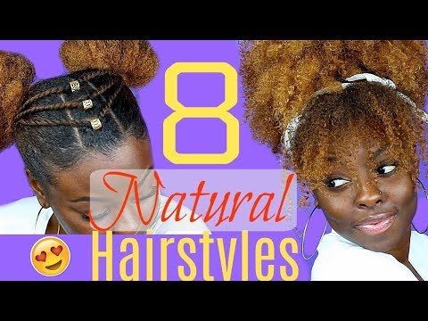 8 Quick Easy Hairstyles For Natural Hair Onlyonejess Video