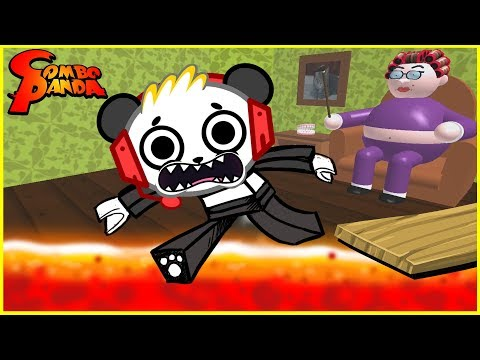 Roblox Escape Grandma's House CRAZY CATS Let's Play with Combo Panda (видео)