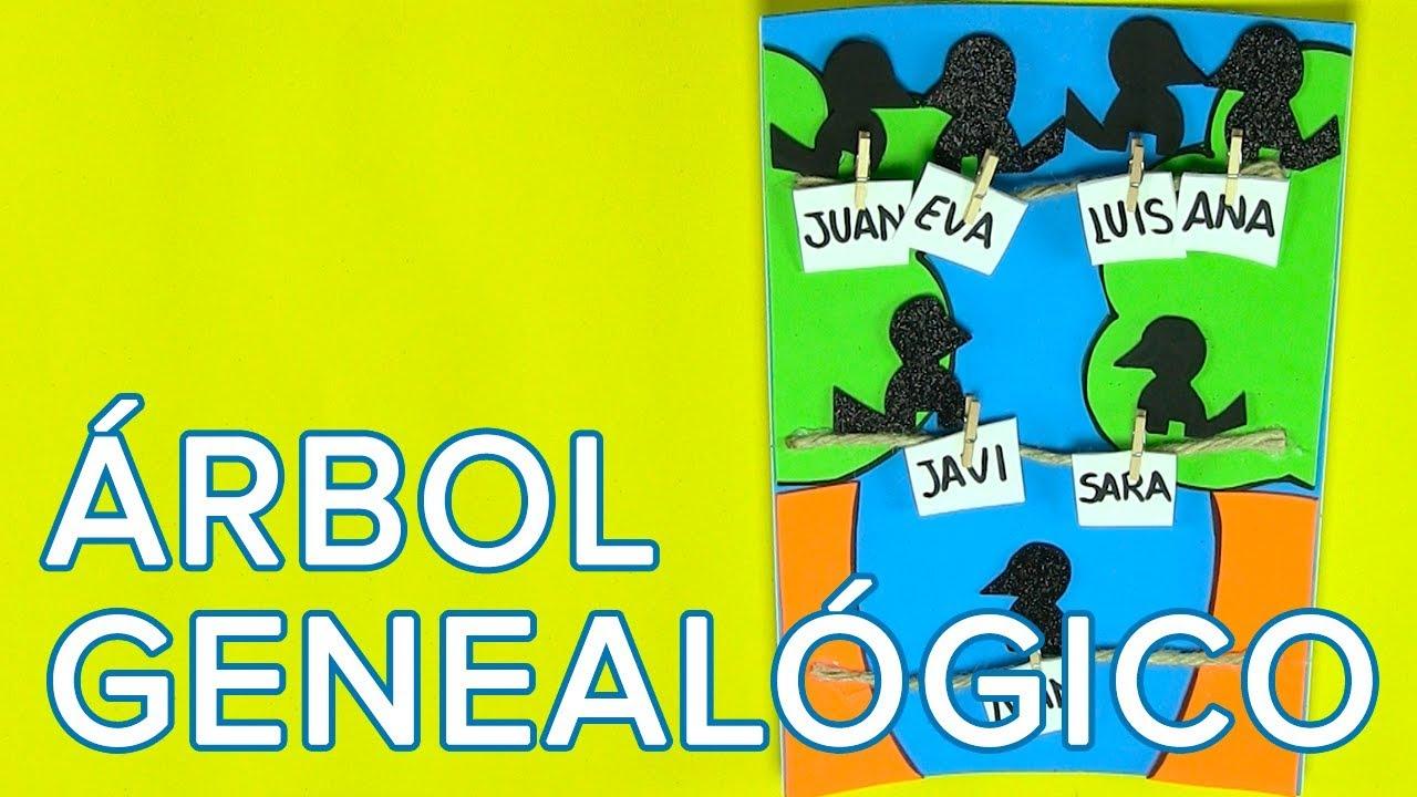 Cómo hacer un árbol genealógico con los niños | Manualidades infantiles