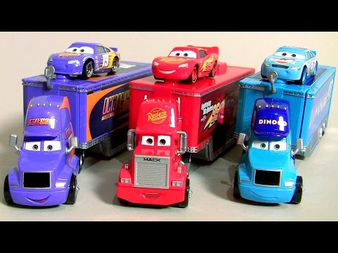 NEW CARS 3 TRUCKS Bobby Swift Hauler, Dinoco Cal Weathers Hauler, Mack DISNEY PIXAR CARS 3 TOYS
