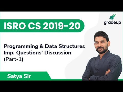 Important Questions' Discussion   ISRO CS 2019-20   Programming & Data Structures   Part-1   Gradeup