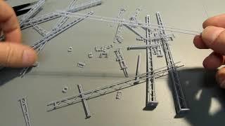 Bau einer Fahrleitung in H0 - 3D-Bauteile als Zukunft? Teil 1.