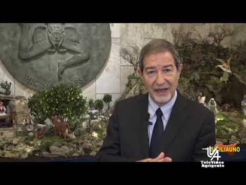 Auguri di natale del presidente della regione sicilia nello musumeci