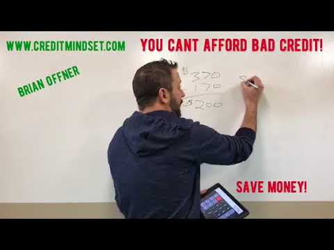 Credit Repair: You can?t afford NOT to do it!